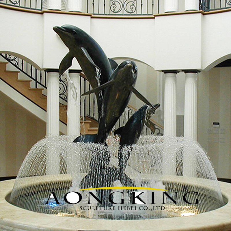 swimming pool DOLPHINS sculpture fountains