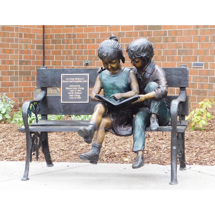 boy sculpture garden