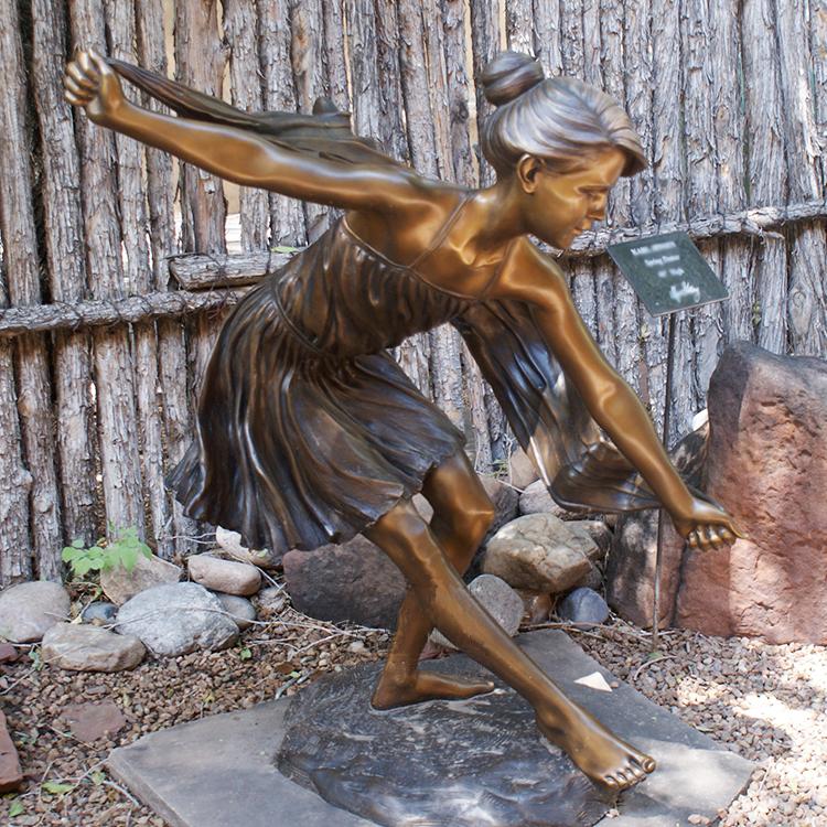 bronze dancing girl sculpture
