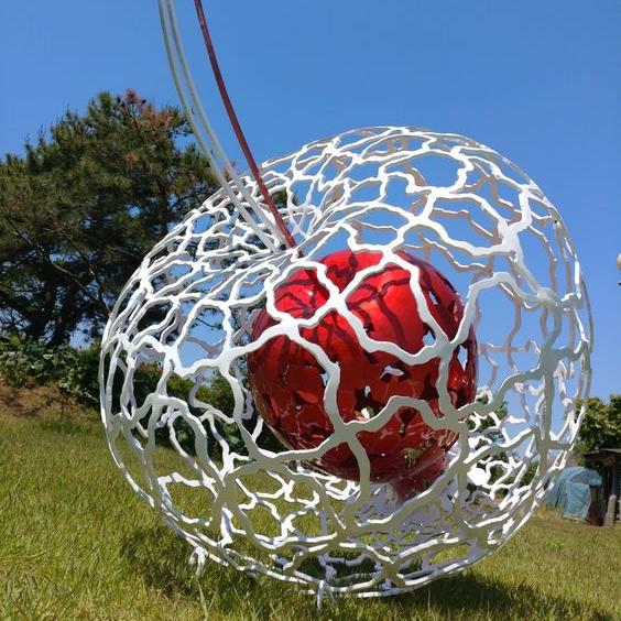 outdoor colorful decorative art sculptures