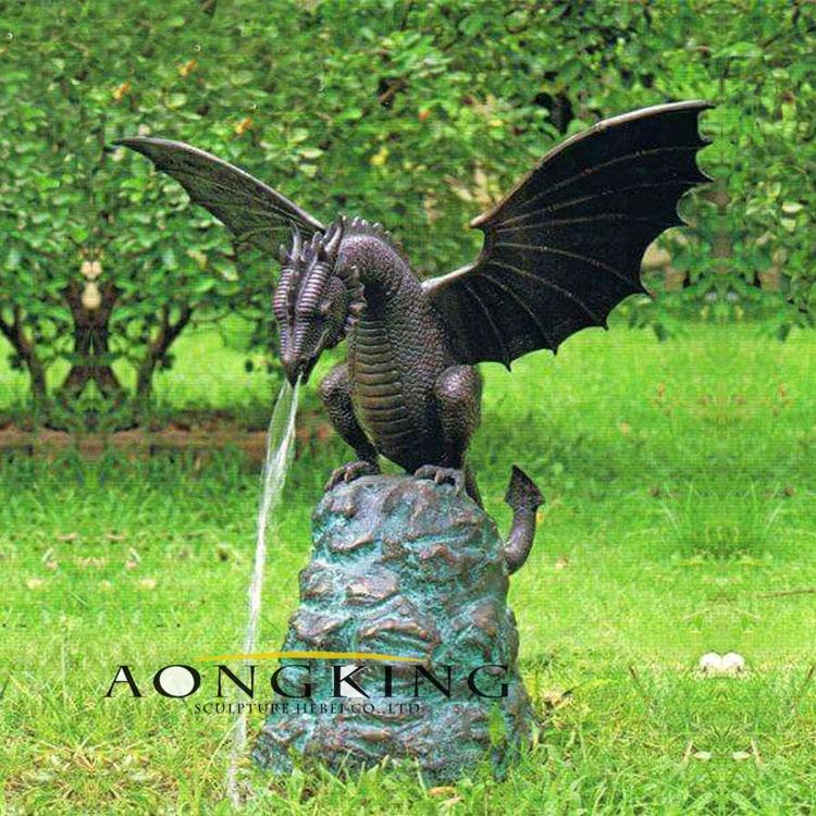 dragon statue fountain