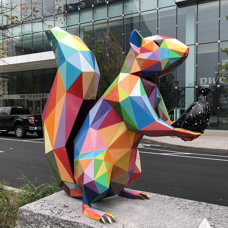 mosaic statue animal life size
