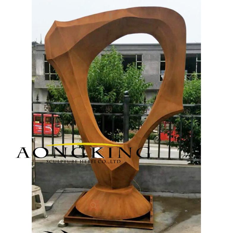 rusty metal sculpture