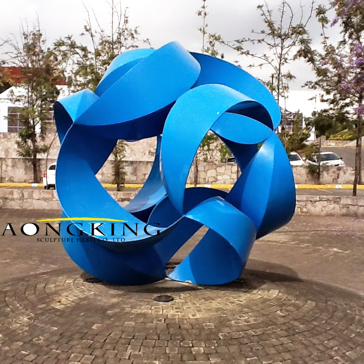 stainless steel hollow ball sculpture