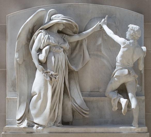 white stone sculpture