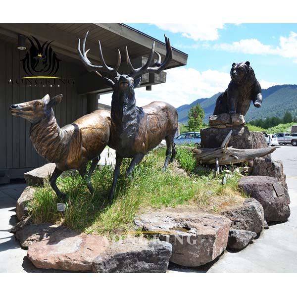 deer garden sculpture