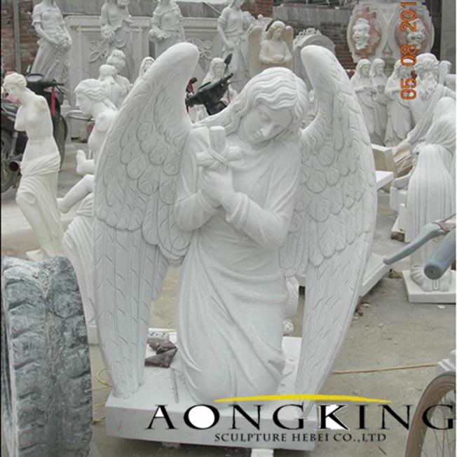 Marble Tombstone Angel Sculpture
