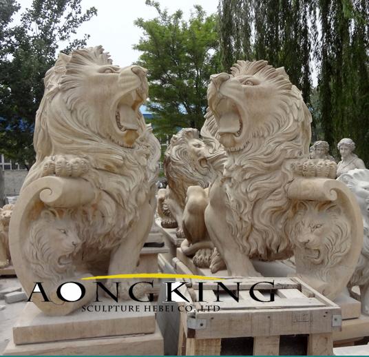 garden granite sculpture lion statue