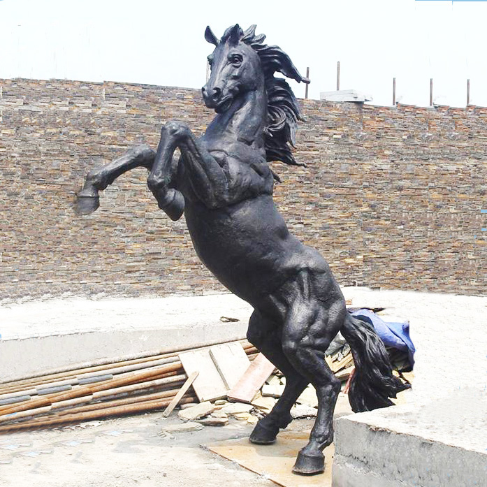 statues for sale of Black horse statue