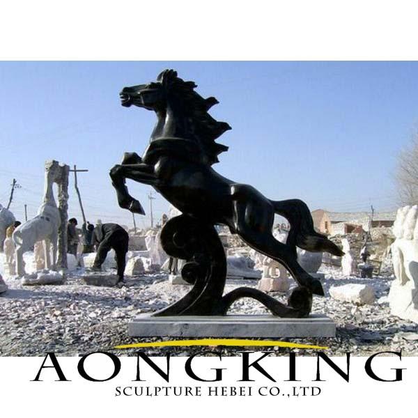 black marble horse statue
