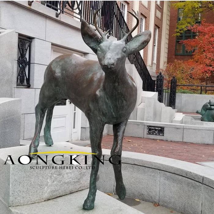cast deer bronze sculpture