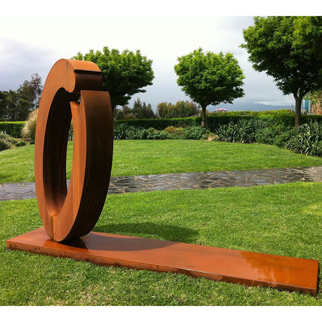 corten garden sculpture