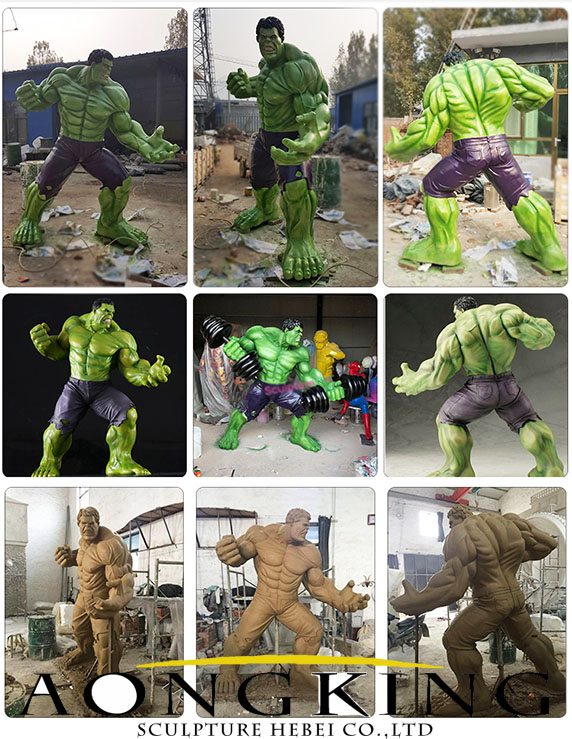 fiberglass cartoon hulk statue