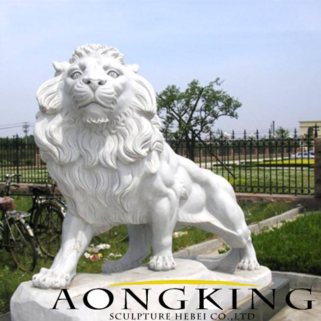 garden stone carving lion sculptures
