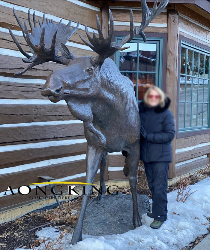 large outdoor sculpture moose
