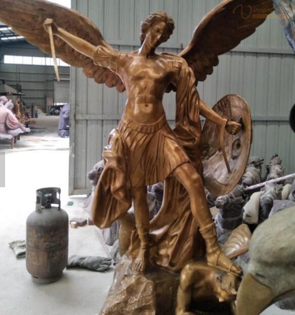 life size archangel michael sculpture