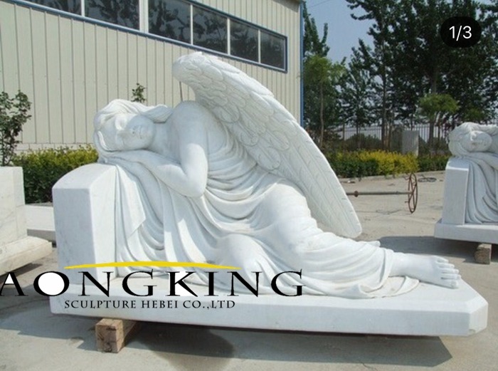 marble cemetery angel statue