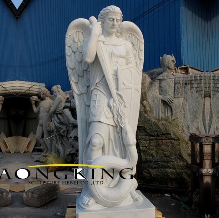 saint michael statue marble