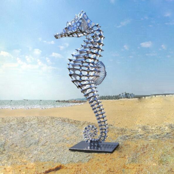 Steel Sculptures Seahorse Custom Made, Seahorse Garden Statue