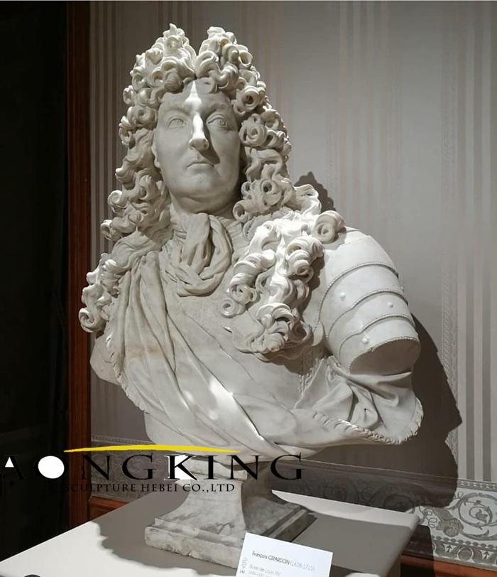 Louis stone bust sculpture