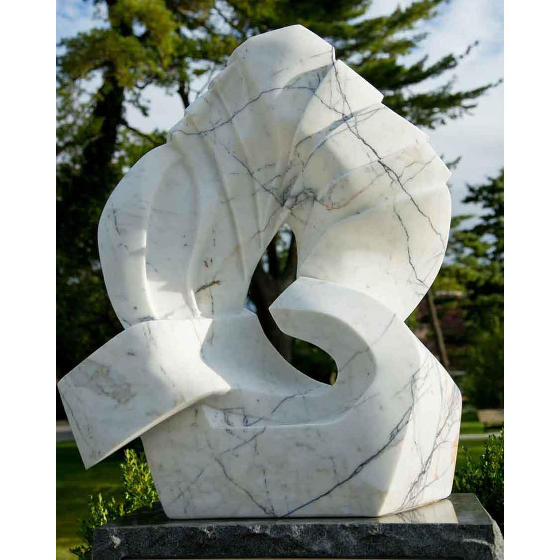 stone knot sculpture NATURE WHITE STONE