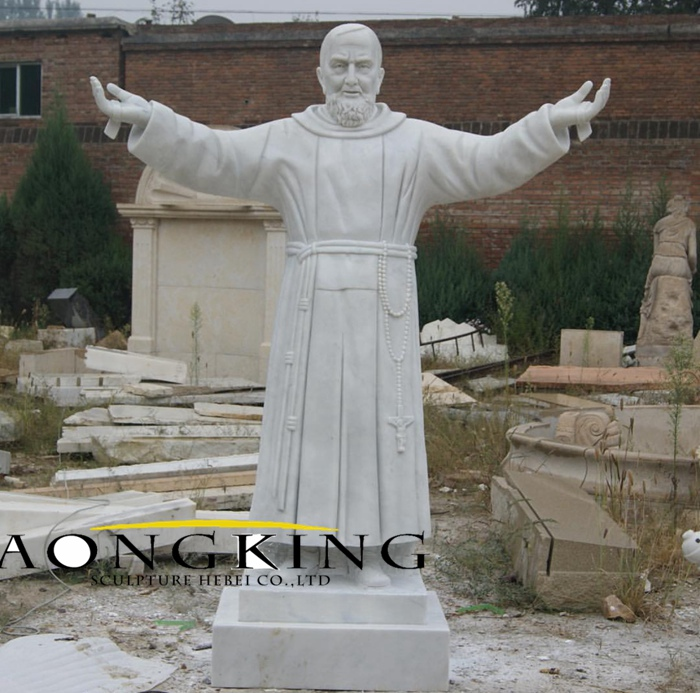 customized marble religious STATUES Padre Pio statue