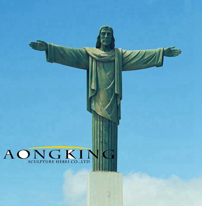 Christ copper statue