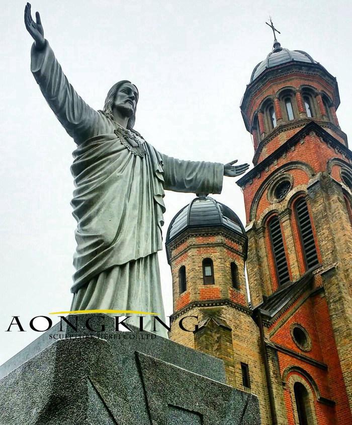 Christ statue stone