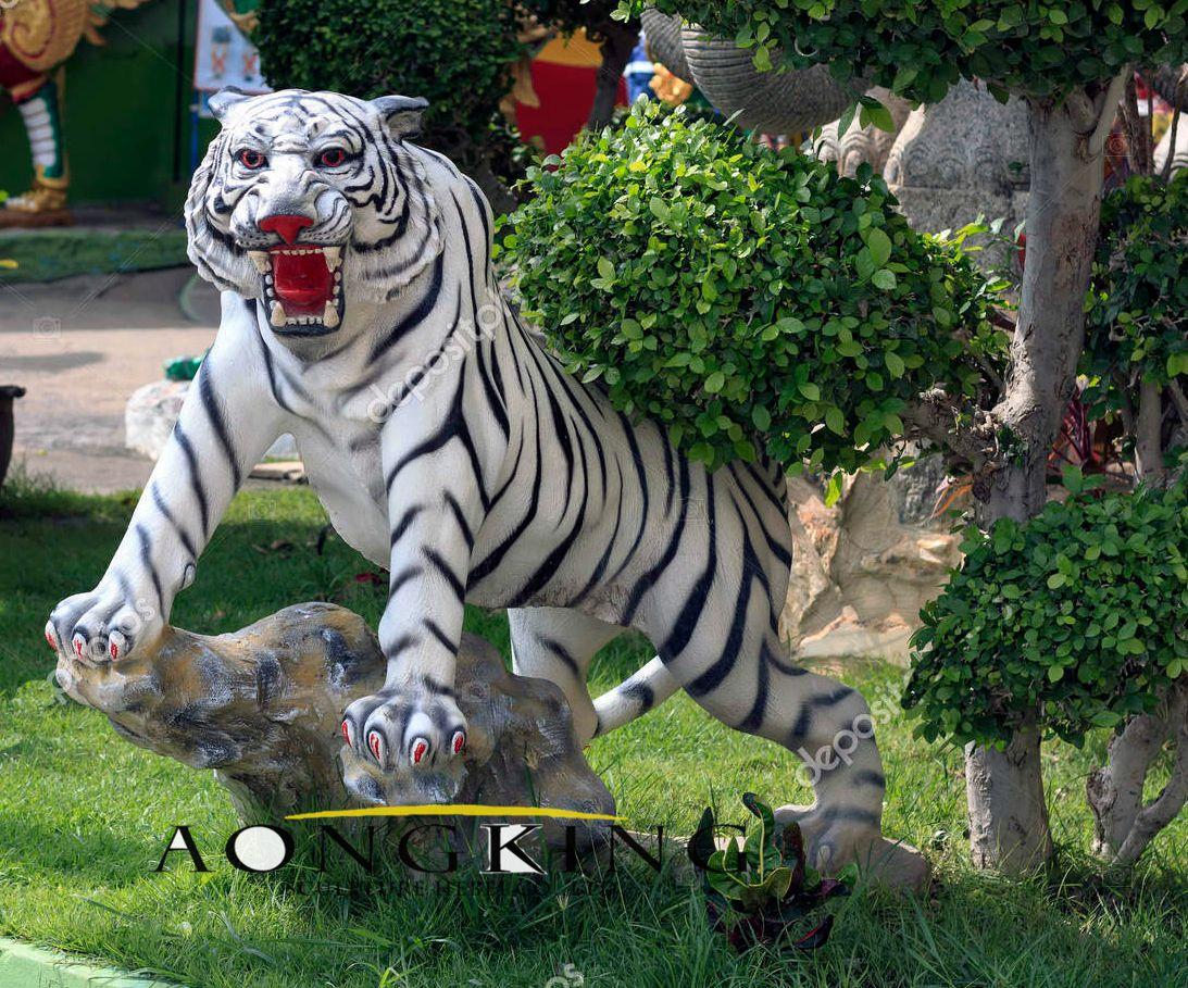 Tiger statue located temple