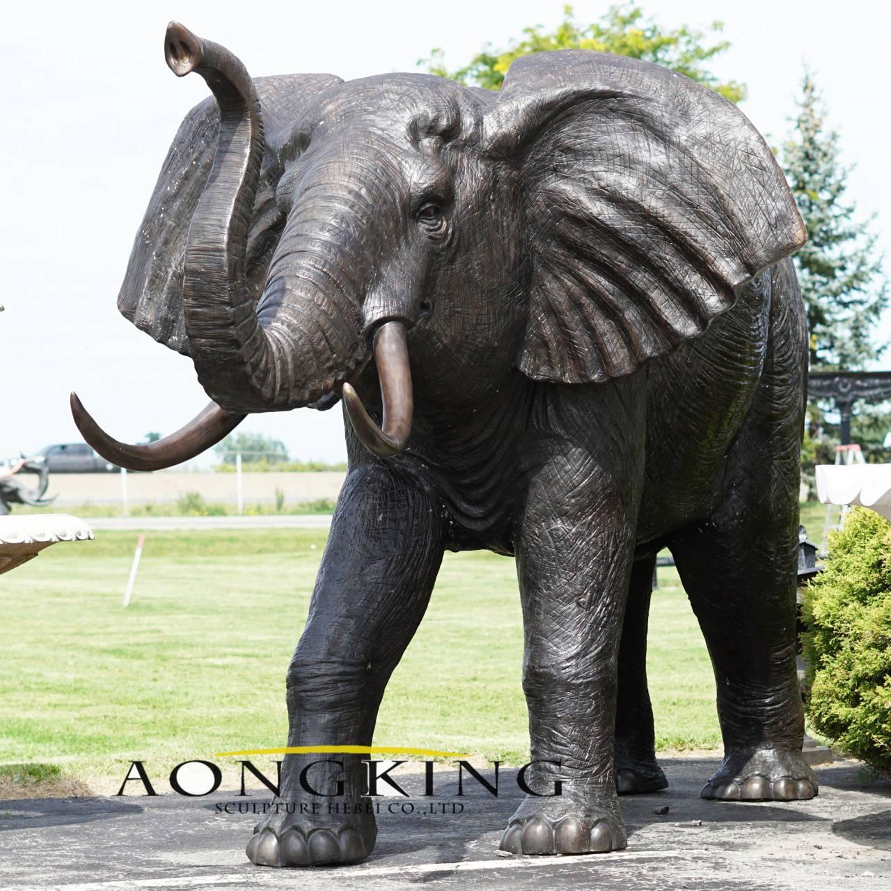 Elephant bronze sculpture