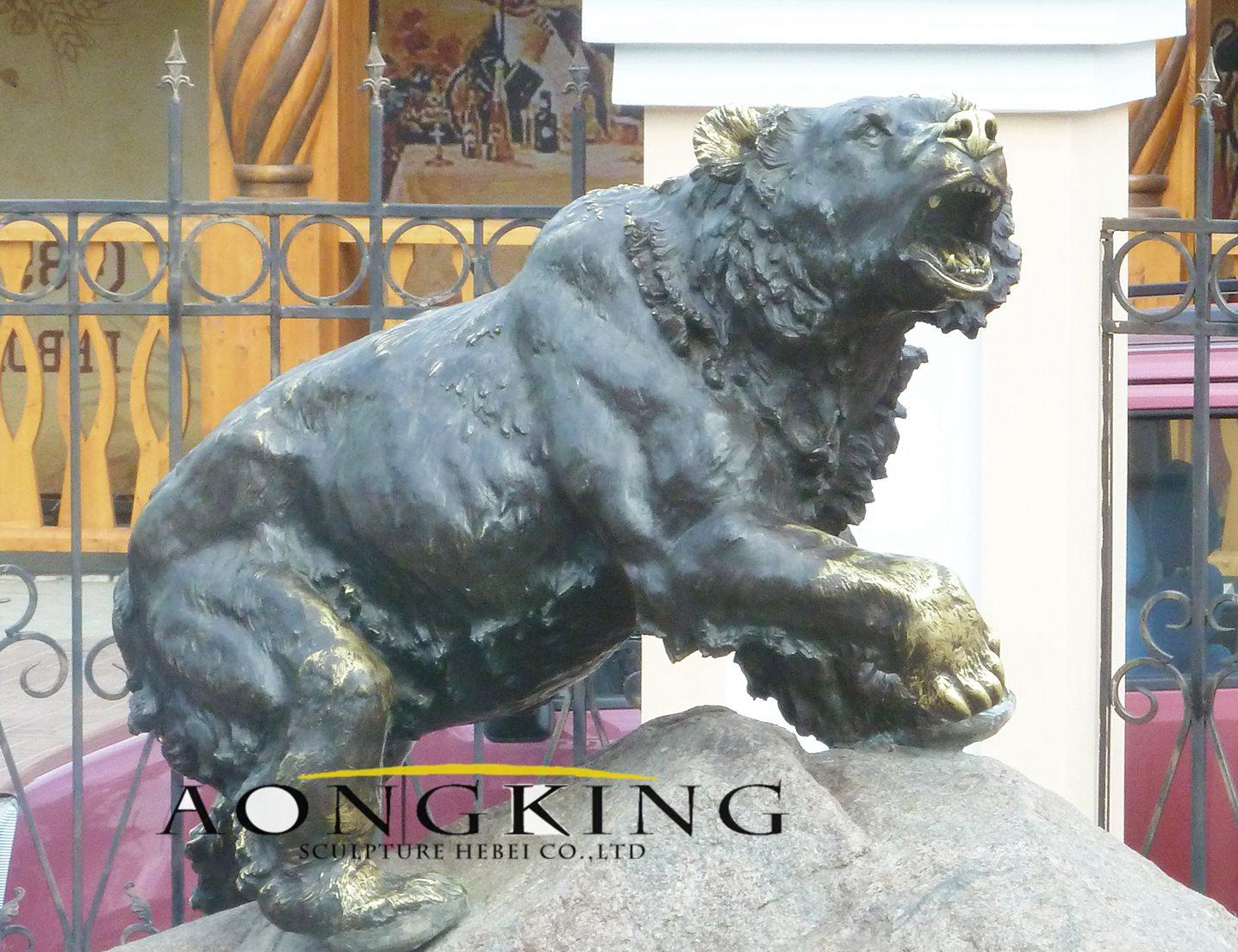Russia bear statue