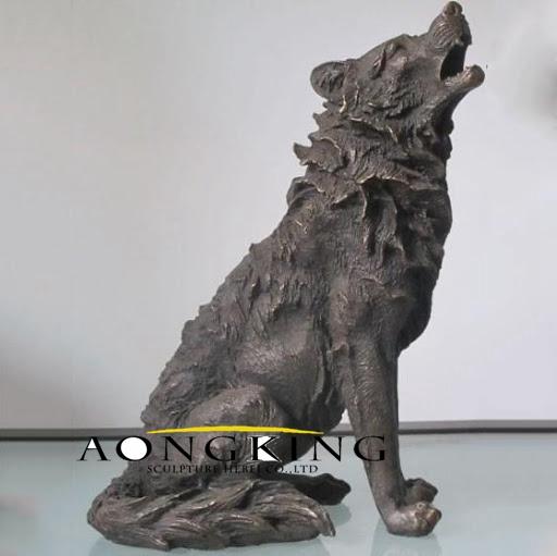 Antique wolf statue