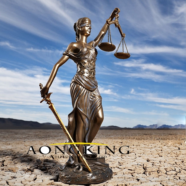statues for sale of Bronze goddess of justice