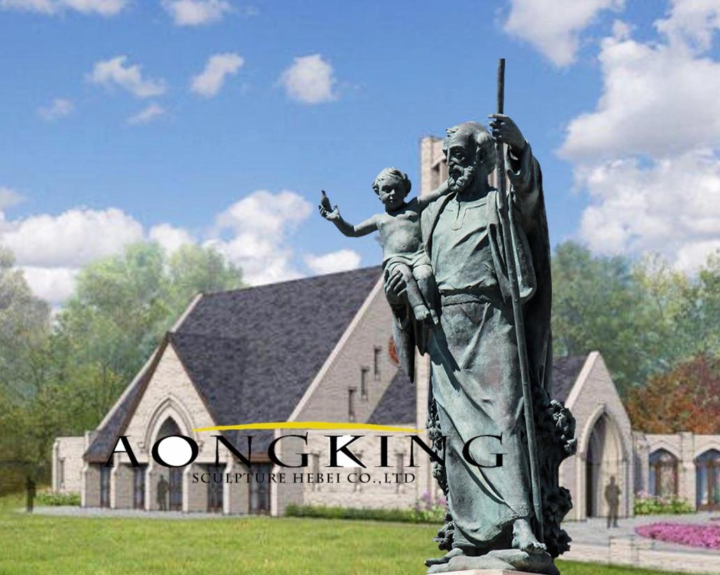 Bronze st joseph statue