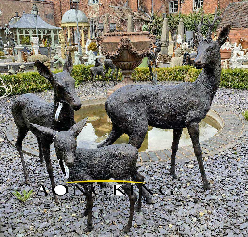 Deer life size statue