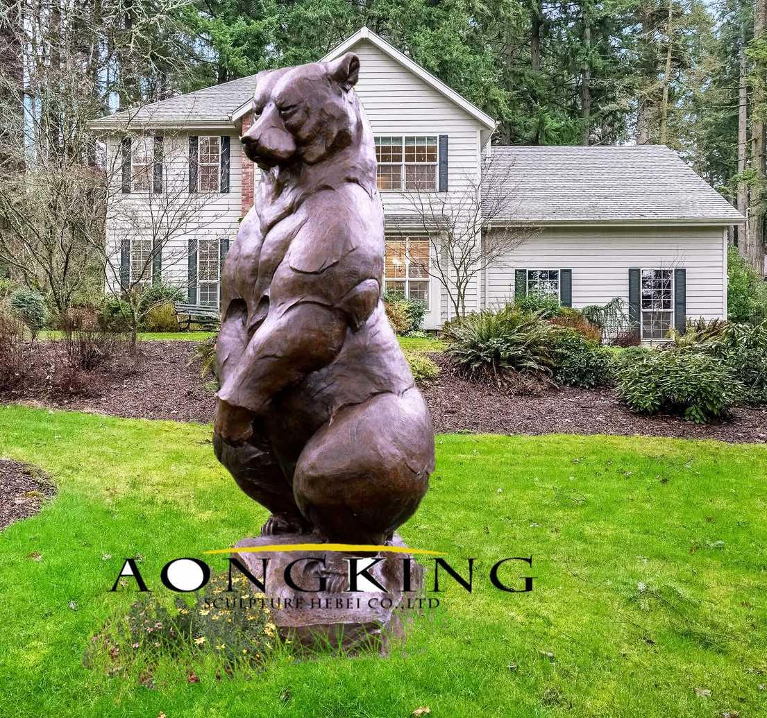 Garden bear statues
