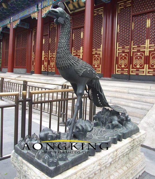 Sculpture of ancient sacred bird