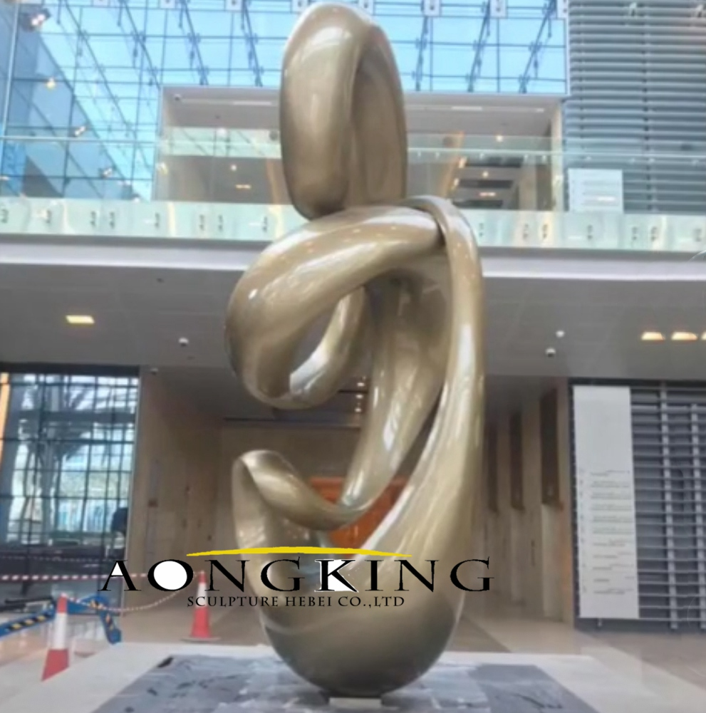 Stainless steel sculpture for shopping mall