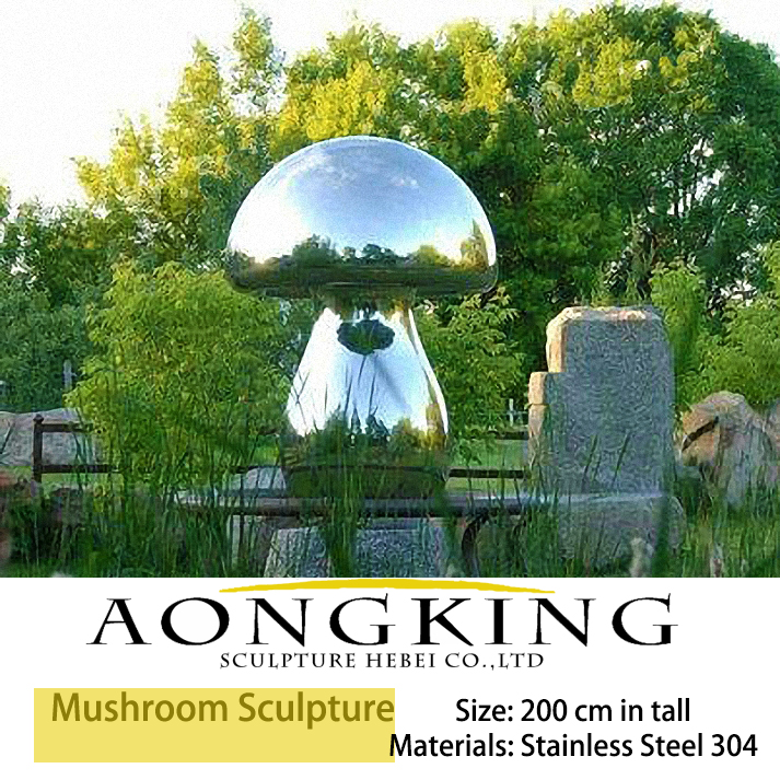 Stainless Steel Mushroom Sculpture