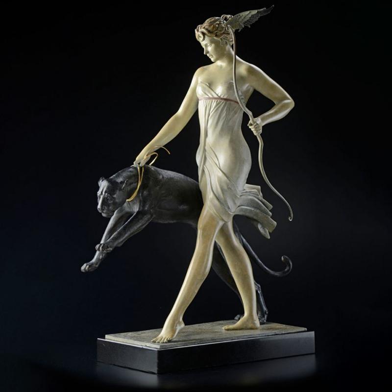 Cast bronze goddess