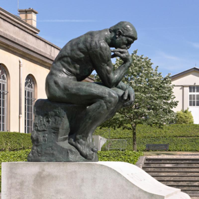 Famous thinker bronze sculpture