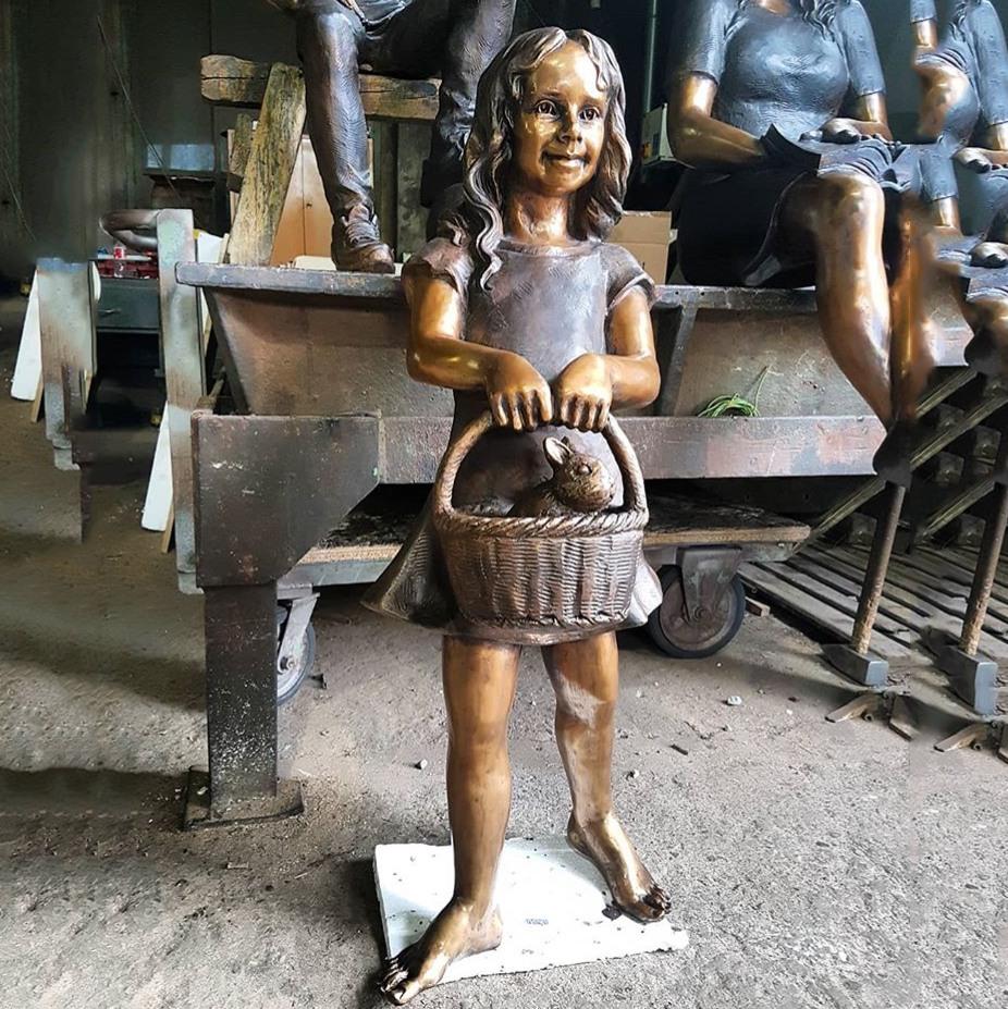 Girl art sculpture
