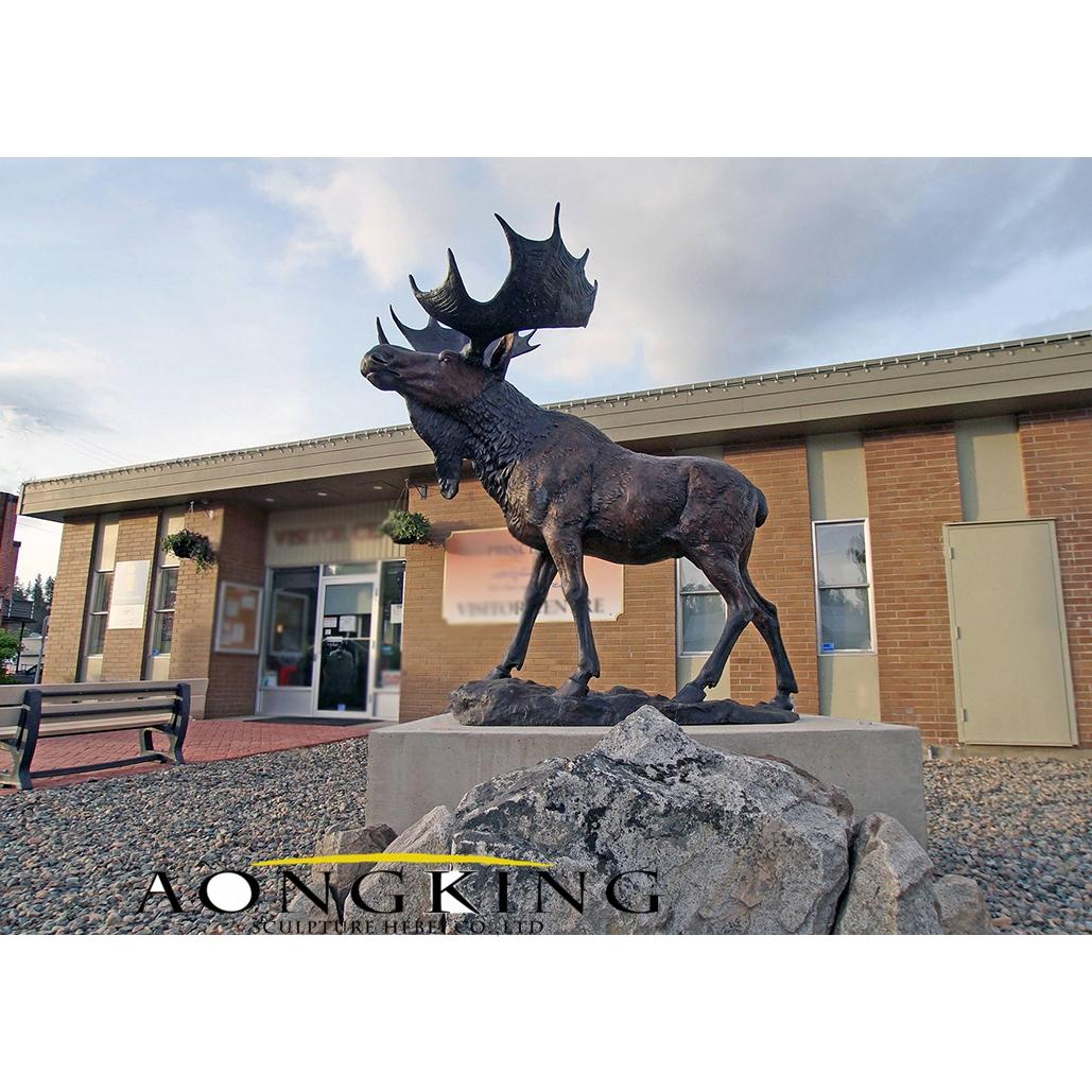 Moose garden statue