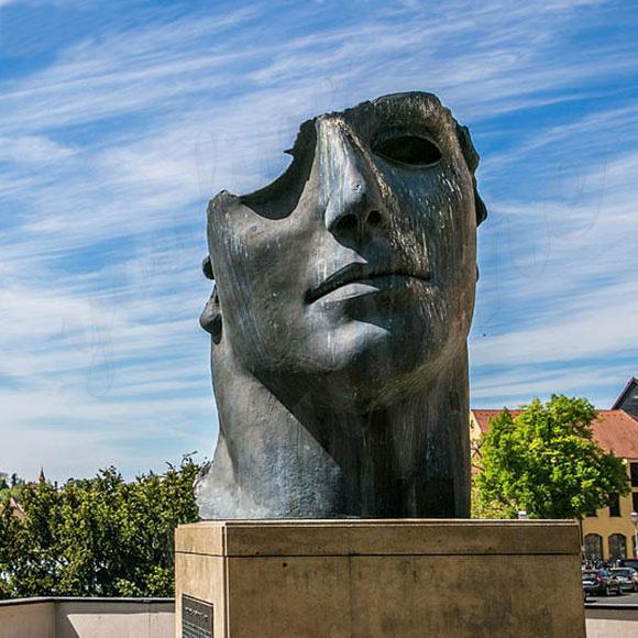 Large bronze famous face