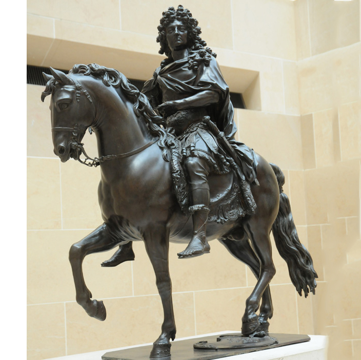 Large bronze riding horse