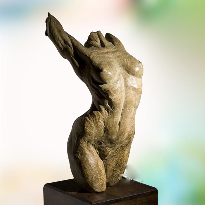 Life nude bronze female