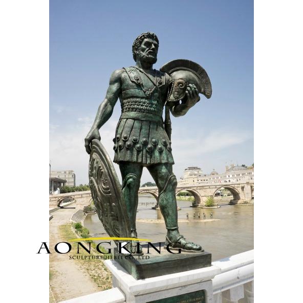 Roman soldiers bronze statue