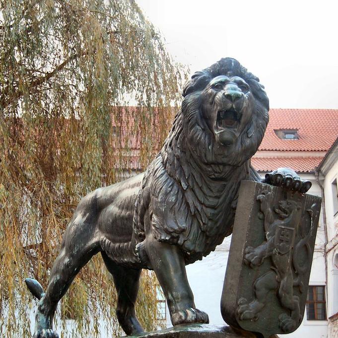 Lion guard sculpture