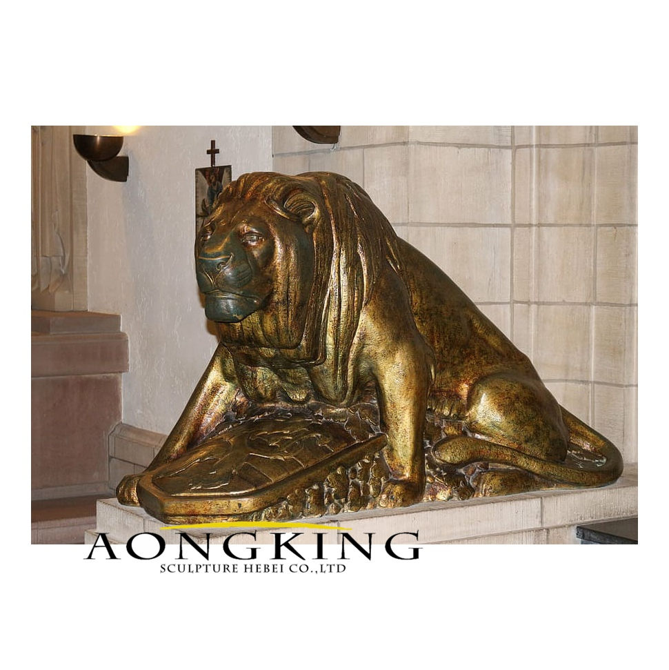 Lion statue protector metal