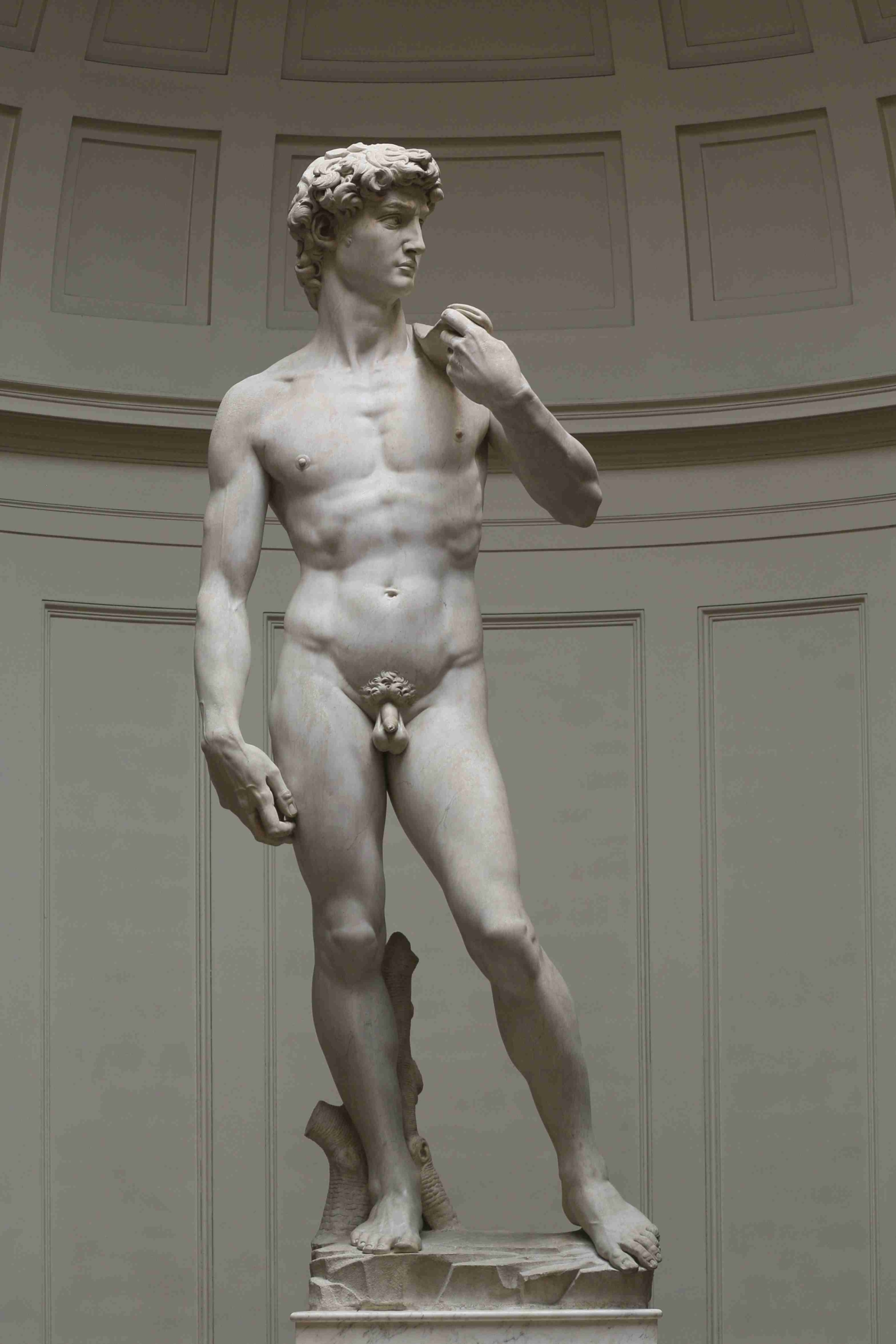 Marble 'david' by michelangelo